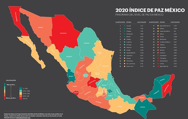2020 índice paz méxico yucatán verde